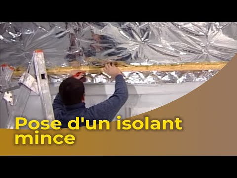 La pose d 39 un isolant mince youtube for Isoler un garage prix