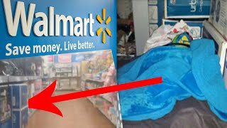 Boy lives in Walmart for two days; Walmart shoplifter jumps out of ceiling to escape - Compilation