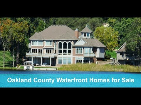 Oakland County Waterfront Homes for Sale - Call Russ at 313-310-9855 - Oakland County