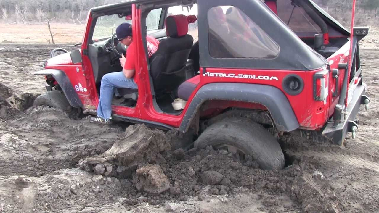 3 Jeeps Rescue Stuck Suv With Trailer And Atv Youtube