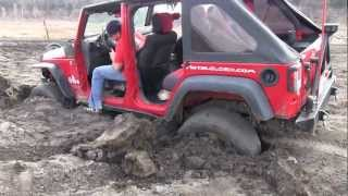 3 Jeeps Rescue Stuck SUV with Trailer and ATV