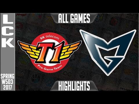SKT vs Samsung Galaxy Highlights All Games - LCK Week 5 Day 3 Spring 2017 - SKT vs SSG All Games