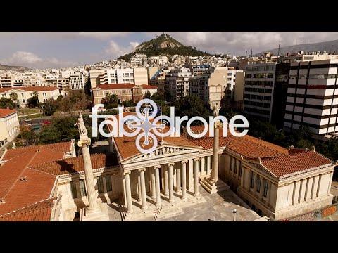 Η Ακαδημία & Πανεπιστήμιο από ψηλά - Academy, University, Library - Athens, drone video