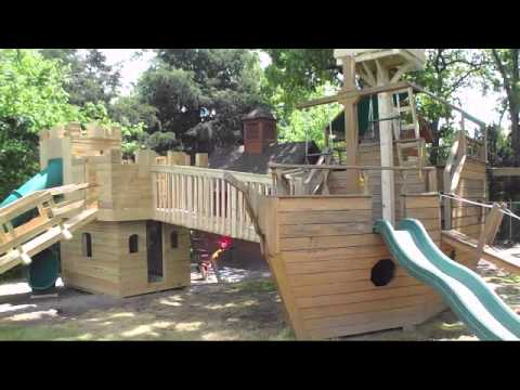 Castle Playhouse Pirate Ship Playhouse And Tree Bridge