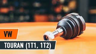 Hogyan cseréljünk Tartozékkészlet, tárcsafékbetét VW TOURAN (1T1, 1T2) - online ingyenes videó