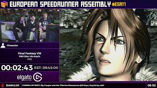 #ESA17 Speedruns - Final Fantasy VIII [PSX Disc US Any%] by Chowzter