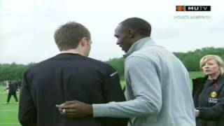 Usain Bolt Meets Manchester United Players