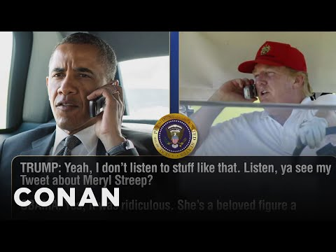 Trump Calls Obama To Talk About The Golden Globes  - CONAN on TBS