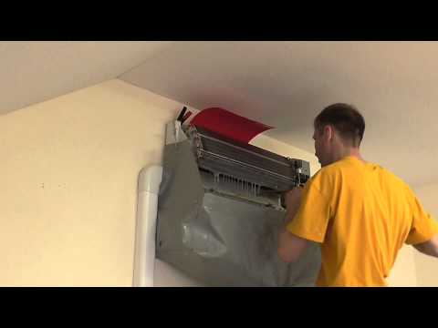 Cleaning the indoor unit of the air conditioner