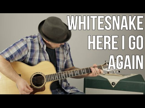 Whitesnake  Here I Go Again  How to Play  Guitar  Less  Tutorial, Chords pro