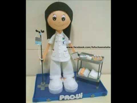 Fofucha Auxiliar De Enfermería Youtube