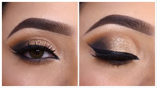 Smokey glitter eye makeup Tutorial || Step by step easy party/ Festival eye makeup || Shilpa