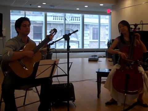 Somewhere Over the Rainbow by sKIMizzi Duo--Cello and Guitar (live)