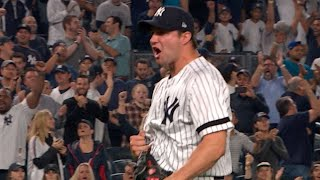 CLE@NYY Gm4: Kahnle keeps Yanks alive with long save