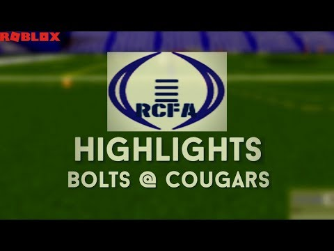 [ROBLOX] ROBLOX Collegiate Football Association (RCFA) - Bolts @ Cougars Highlights