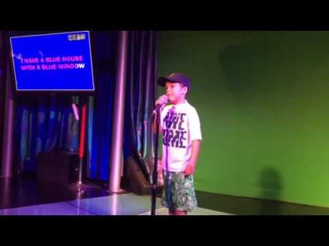 Jacob singing I'm blue by Eiffel 65 Karaoke