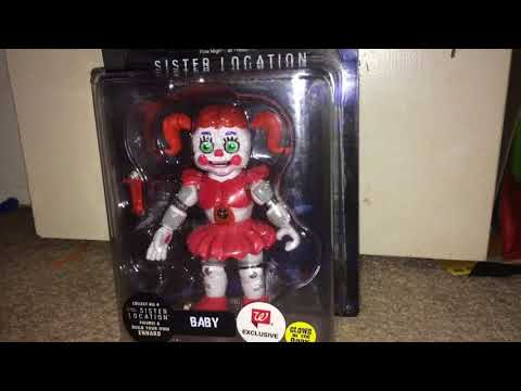 Fnaf Sisiter Location Glow In The Dark Baby Action Figure.