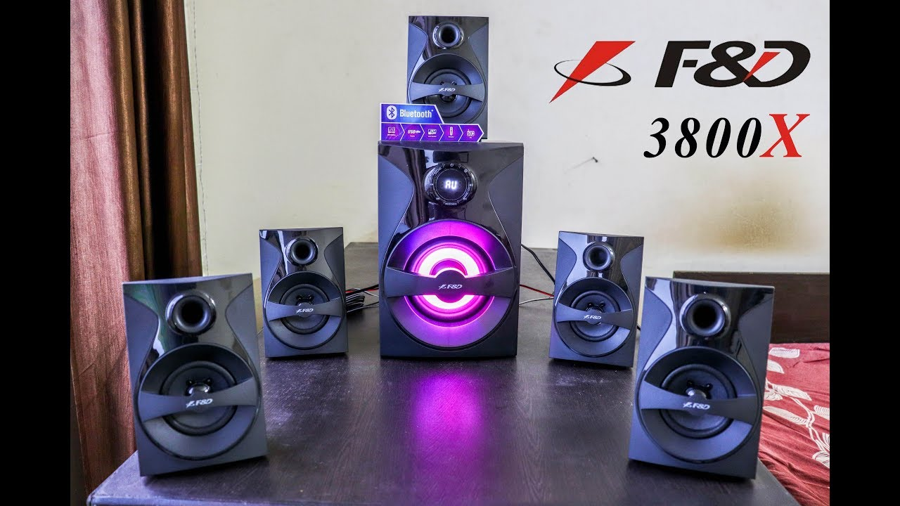 F&D F3800X 5.1 Home Theatre Unboxing and Music Test
