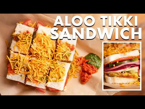 Mumbai Style Aloo Tikki Sandwich | Street Style Recipe | Red Garlic Chutney | Chef Sanjyot Keer