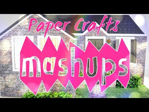 Mash Ups: Paper Crafts - Paper Doll Bed | Paper Prom Dress | Purse | Backpack & more