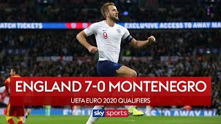 England qualify in style | England 7-0 Montenegro | Highlights | UEFA Euro 2020 Qualifiers