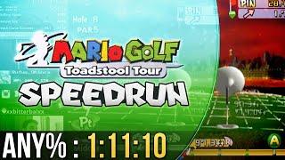 Mario Golf: Toadstool Tour Any% Speedrun in 1:11:10