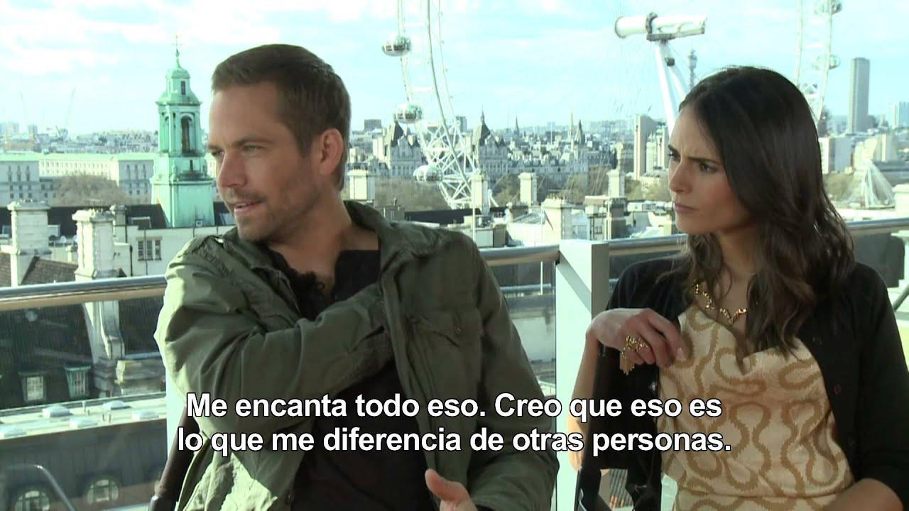 Fast Furious 6 Entrevista A Paul Walker Y Jordana Brewster