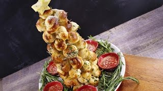 Katie Lee's Garlic Knot Christmas Tree