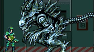 Aliens Infestation (DS) All Bosses (No Damage)