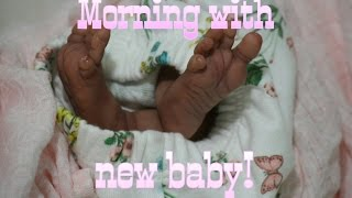 First Morning Outfit Change For New Preemie Baby Girl! Reborn Baby Doll! Life Like Baby Doll!