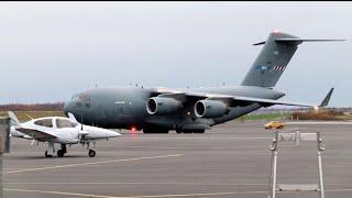 4K| NATO C-17 Globemaster III SAC 02 At Tampere-Pirkkala Airport