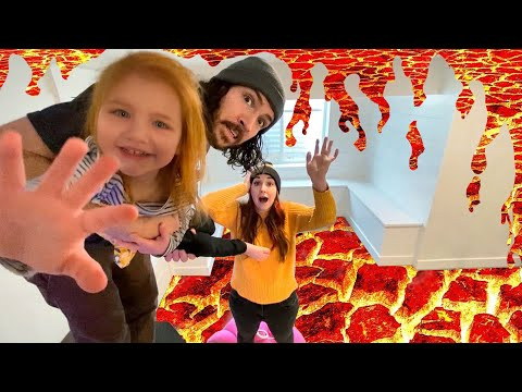 Floor Is Lava THE MOVIE!!!! Go On 1 HOUR Of Adventures With Adley And Family Vs Lava Monster!! 🌋