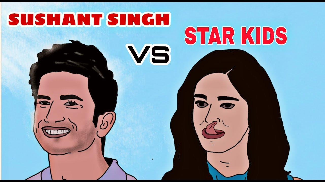Sushant singh vs bollywood star kids | tribute to sushanth singh | nepotism |