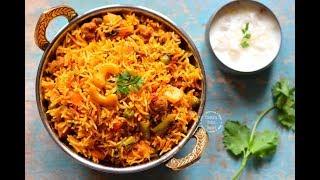 Vegetable Biryani in Pressure Cooker | Video Recipe