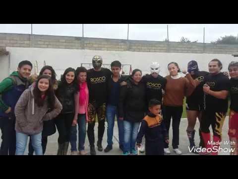 Conviven Luchadores con Niños en Kinder de Toluca