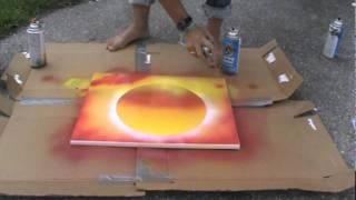 Spray Paint Art Sunset