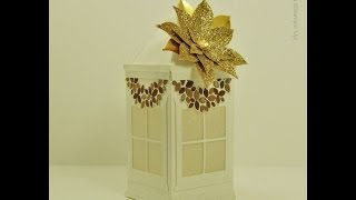Christmas Lantern in Gold and White Stampin