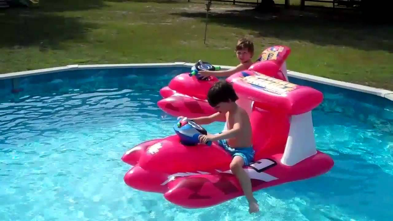 Twins On Pool Toys Youtube