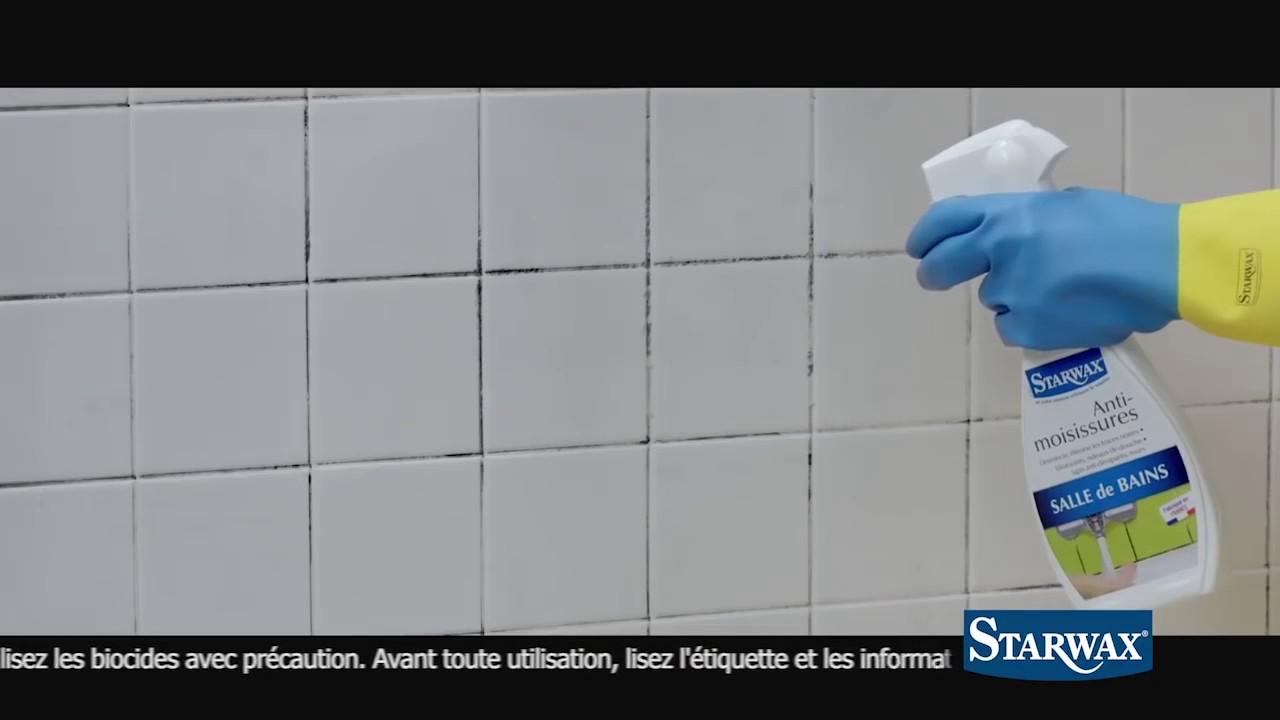 avec starwax liminez les moisissures sur les joints de votre carrelage de salle de bains. Black Bedroom Furniture Sets. Home Design Ideas