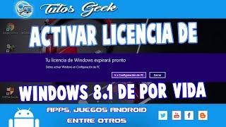 como activar windows 8.1 pro  de por vida [funcionando 2019]