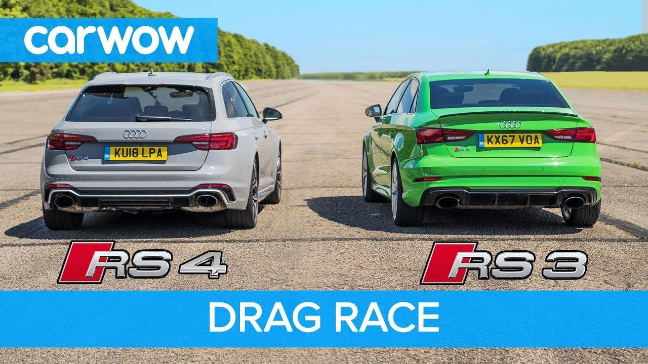 Drag Race Watch Audi Rs3 Sedan Take On Audi Rs4 Avant
