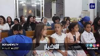 مشاهد من صلاة عيد الوردية بكنيسة سيدة الجبل في محافظة عجلون