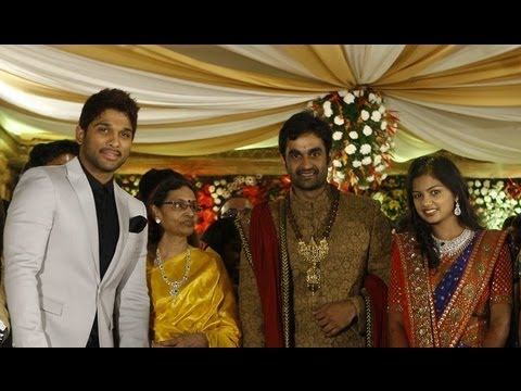 Allu Arjun at Brahmanandams Son Gautam s Wedding Reception  YouTube