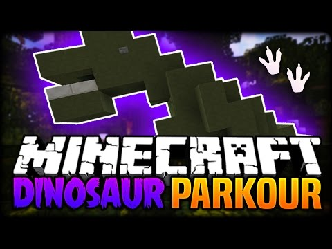 Minecraft: PARKOUR ON A DINOSAUR?! (Awesome Parkour Map) - Through History