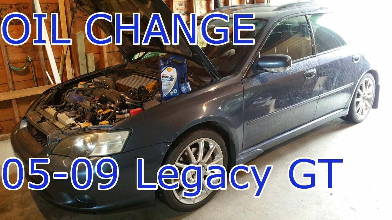How To: Oil Change on 05-09 Legacy GT and Outback XT - YouTube