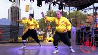Shaolin Team Canada's Martial Arts and Qigong Performance At Chinatown Festival Toronto 20180818