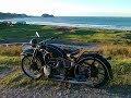 Moto BMW R12 de 1935. Prueba on board en carretera a tope