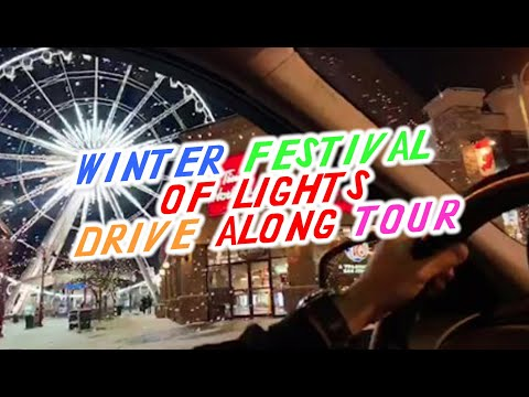Live! Winter Festival Of Lights Drive Along With Christmas Music - Niagara Falls, Canada