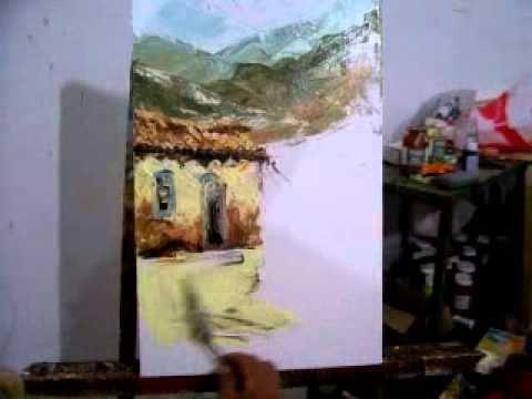 Pintura em tela casas
