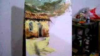 Repeat youtube video Video aula curso Pintura em tela com espatula part 1